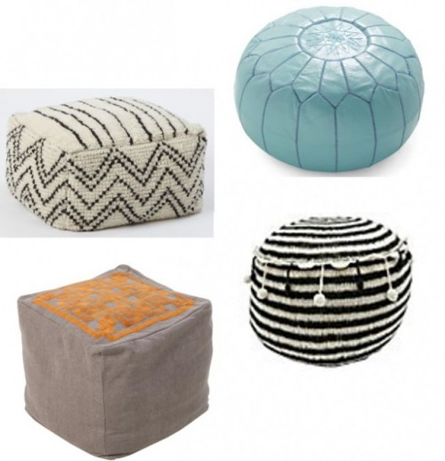 what s the point of a pouf designs by katy. Black Bedroom Furniture Sets. Home Design Ideas